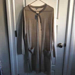 NWT J Jill long cream/beige cardigan. Medium